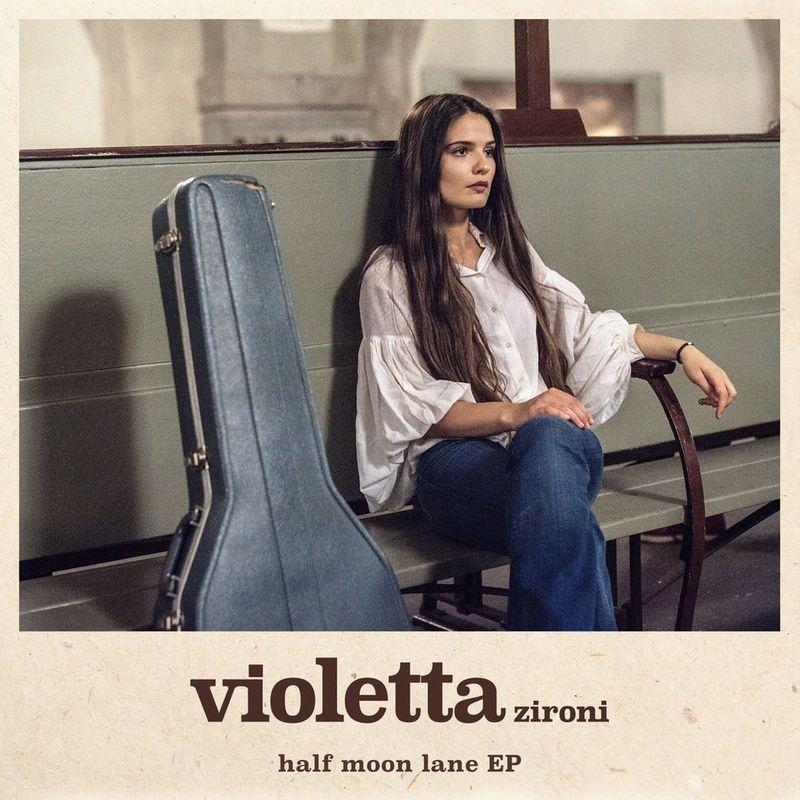 Cover art of Violetta Zironi single 'Half Moon Lane'
